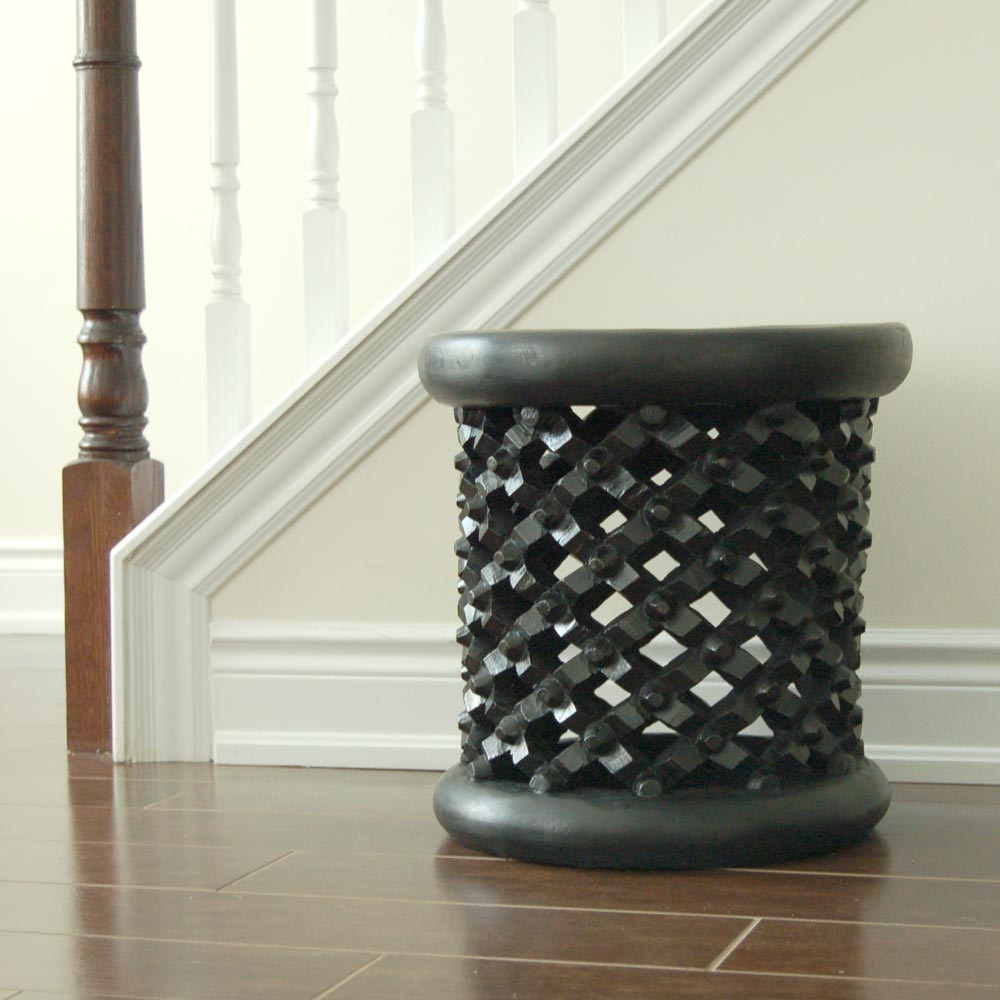 Bamileke Stool – Solid Wood Side Table