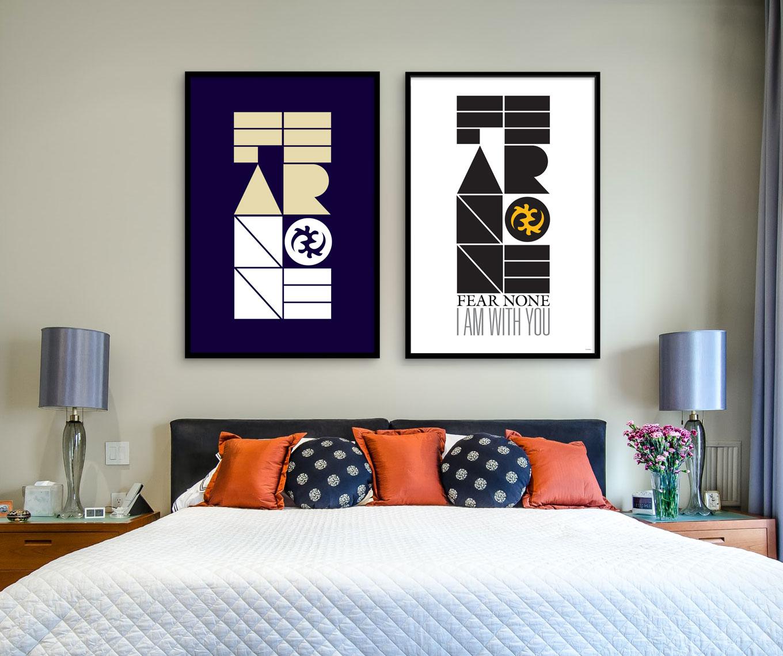 """Gye Nyame"" (Fear None) – Inspirational Wall Art Poster"