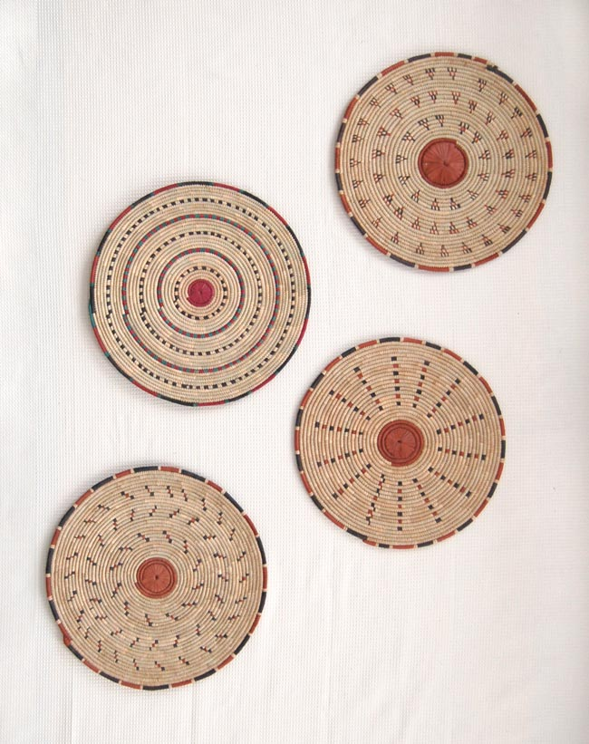 African Flat Baskets Rustic Wall Art Table Charger Afrimod