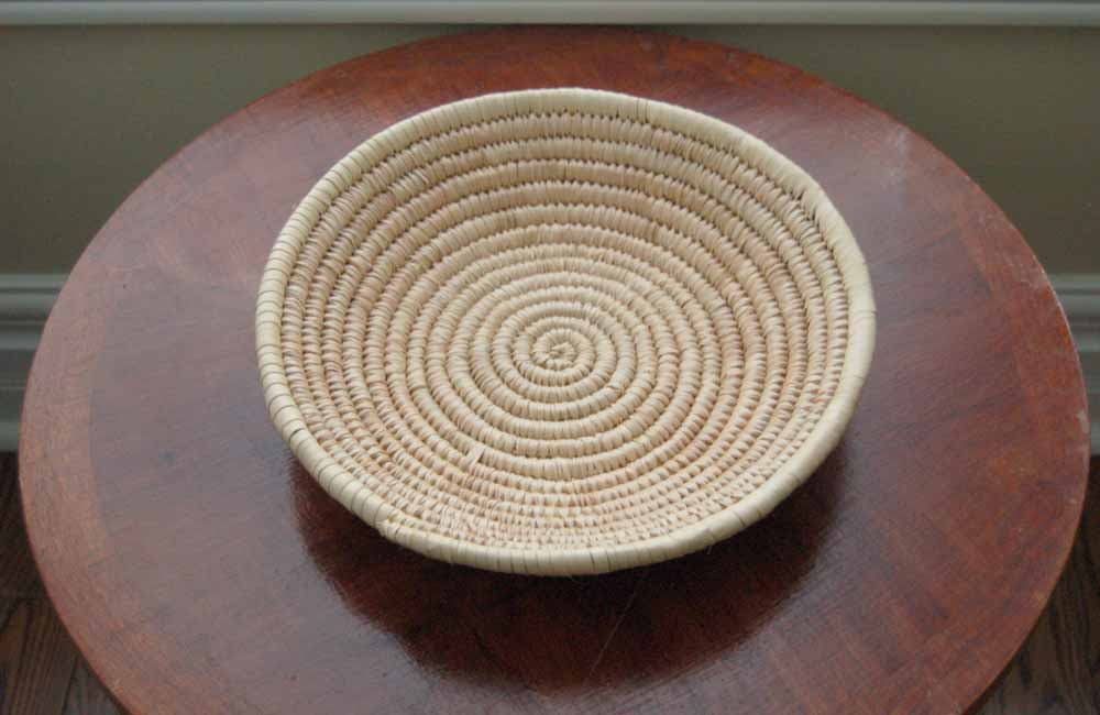 Basket Bowl: Natural Fiber