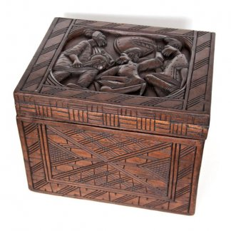 African Coffee Table Solid Wood Hand Carved Accent Table