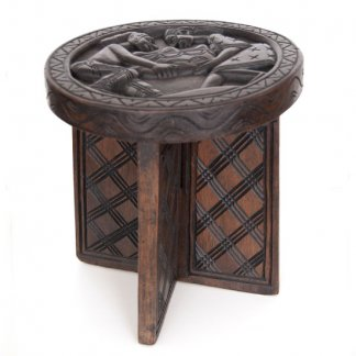 Plant Stand African Stool Mini Nupe Stool Afrimod