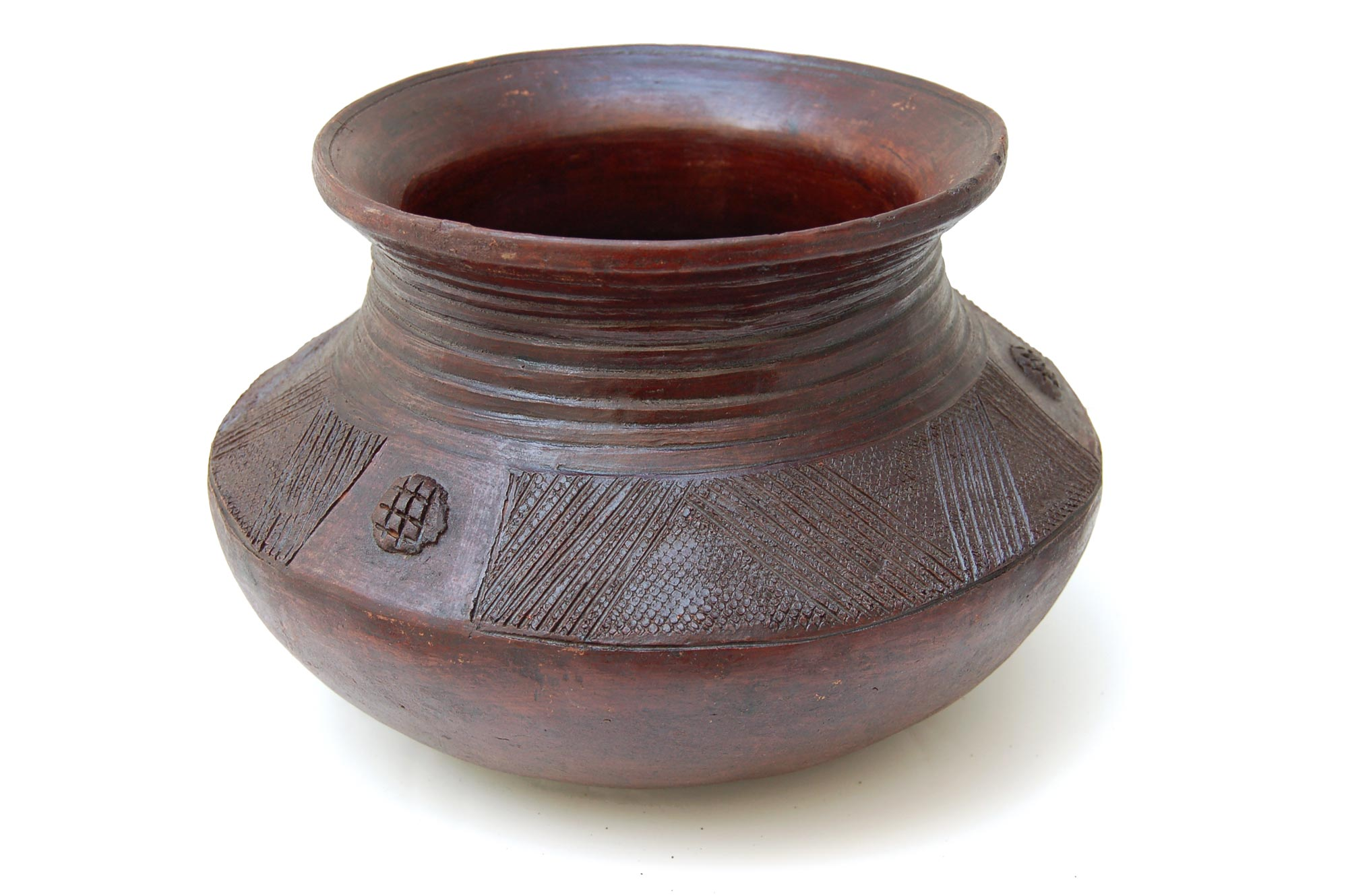 African Clay Pot (for air plants or decor)