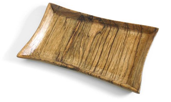 Afara I – Hand-carved Black Afara Wood Tray