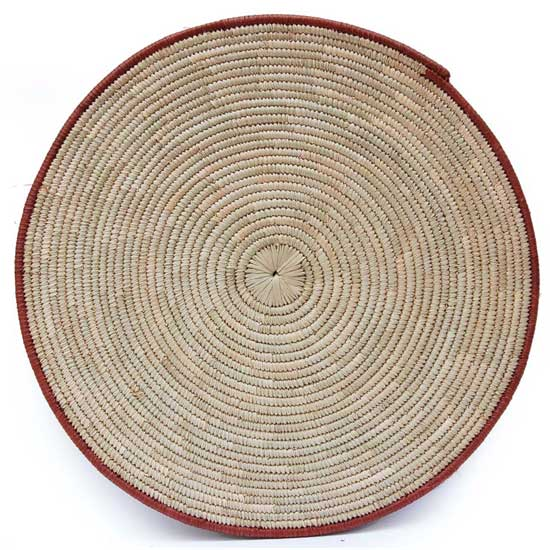 African Flat Basket Decor Set (4)