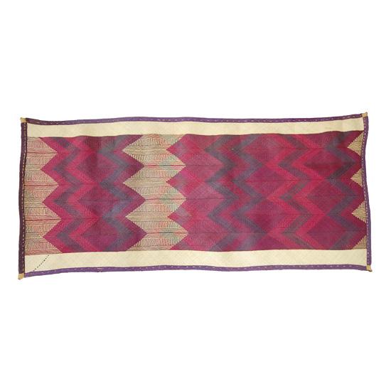 African Floor Mat (Natural Fiber Rug – Purple)