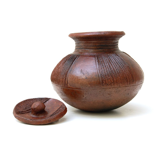 African Clay Pot with Lid