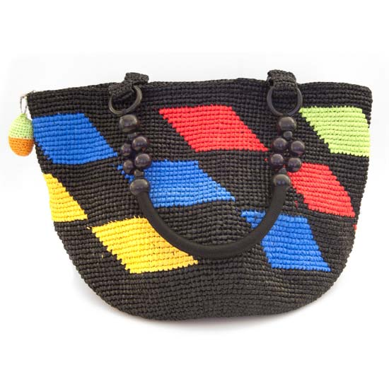 Upcycled Colorful Chic Tote