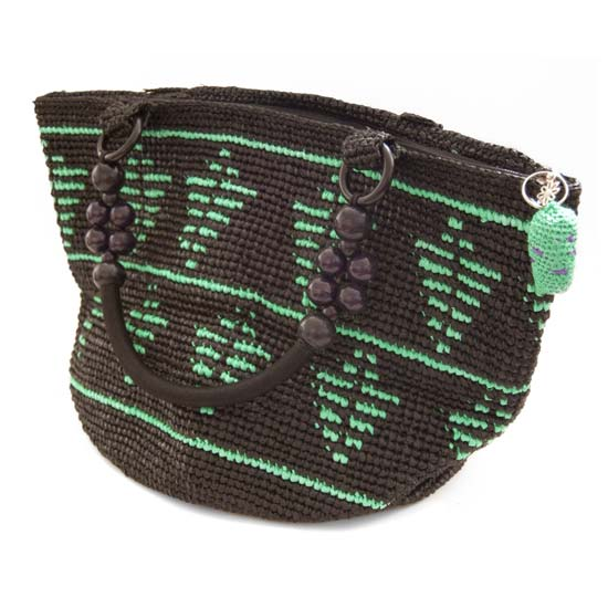 Hand-woven Upcycled Tote with Abstract Pattern