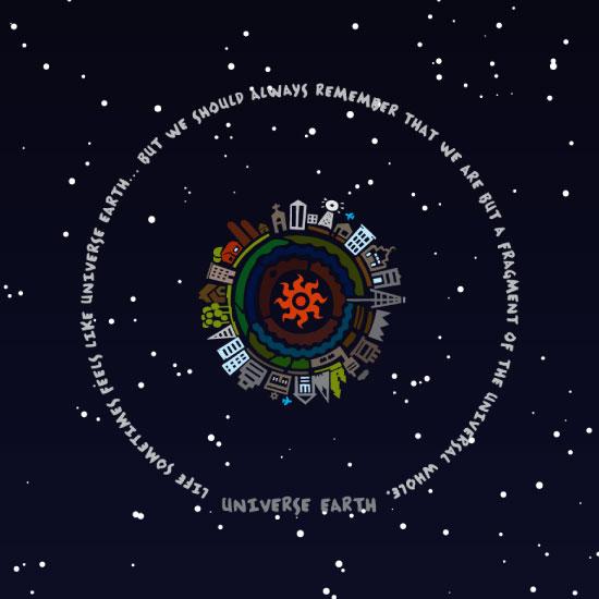"""Throw Pillow """"Universe Earth"""""""
