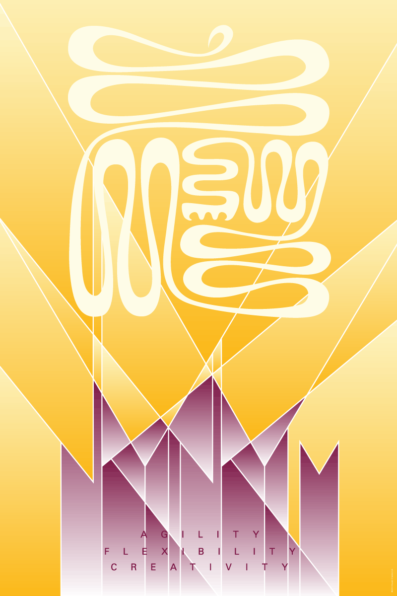 """Nkyinkyim"" (Creative Life) Wall Art Poster"