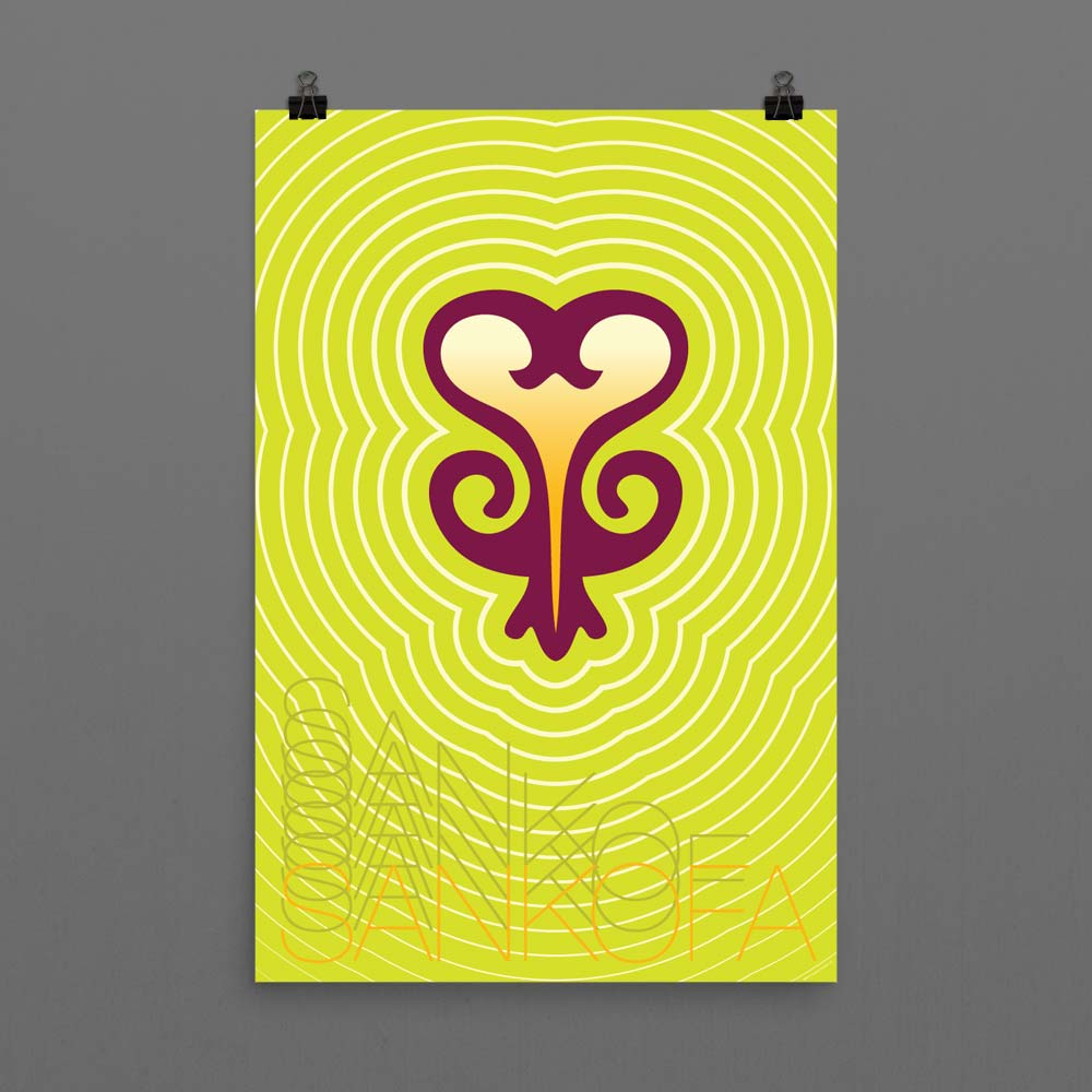 """Sankofa"" (Past Wisdom, Present Action) – Wall Art Poster"