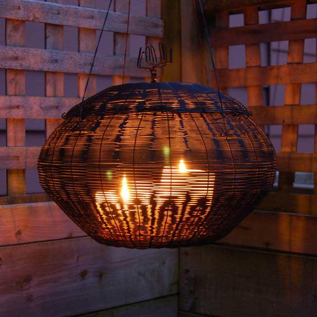 Rustic Wire Basket Lantern
