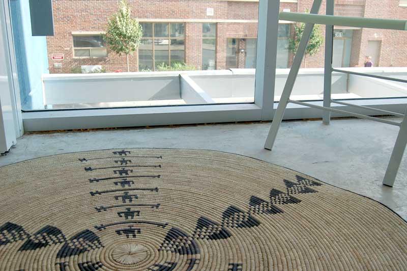Round Natural Fiber Accent Rug:  Human Circle