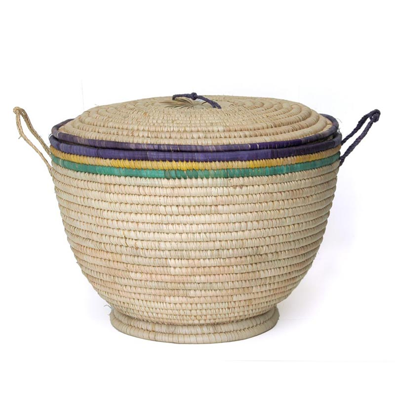 Lidded Toy Storage Basket (~19in wide)