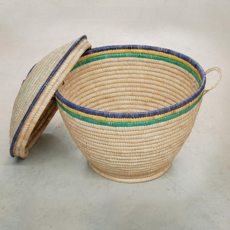 Lidded Storage Basket – Large (~20in wide)