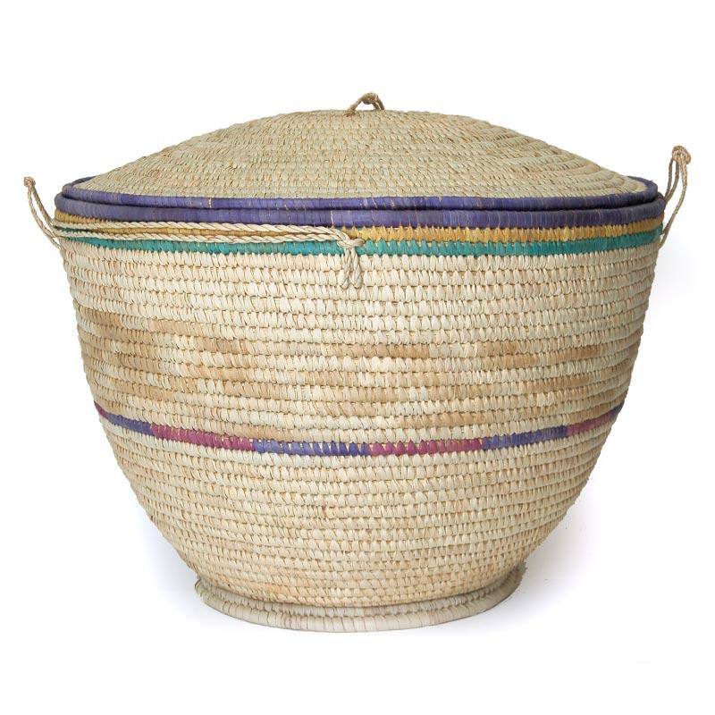 ... Large Lidded Natural Fiber Storage Basket U2013 Extra Large (~23in Wide) ...