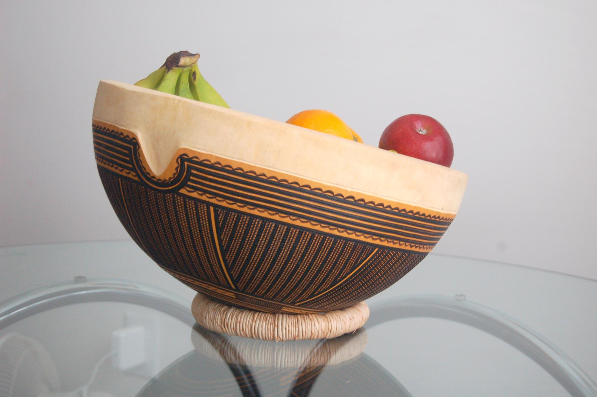 Gourd Art – Pyro-Etched Cross-Hatch
