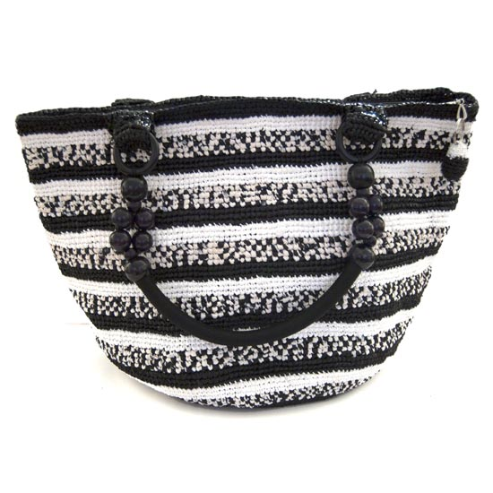 Upcycled Plastic Tote – Zebra Patterned
