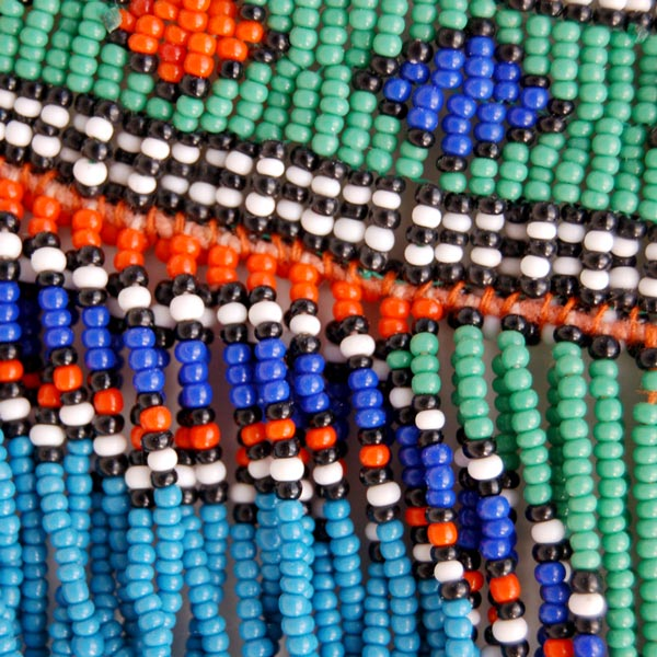 Vintage Zulu Beaded Necklace