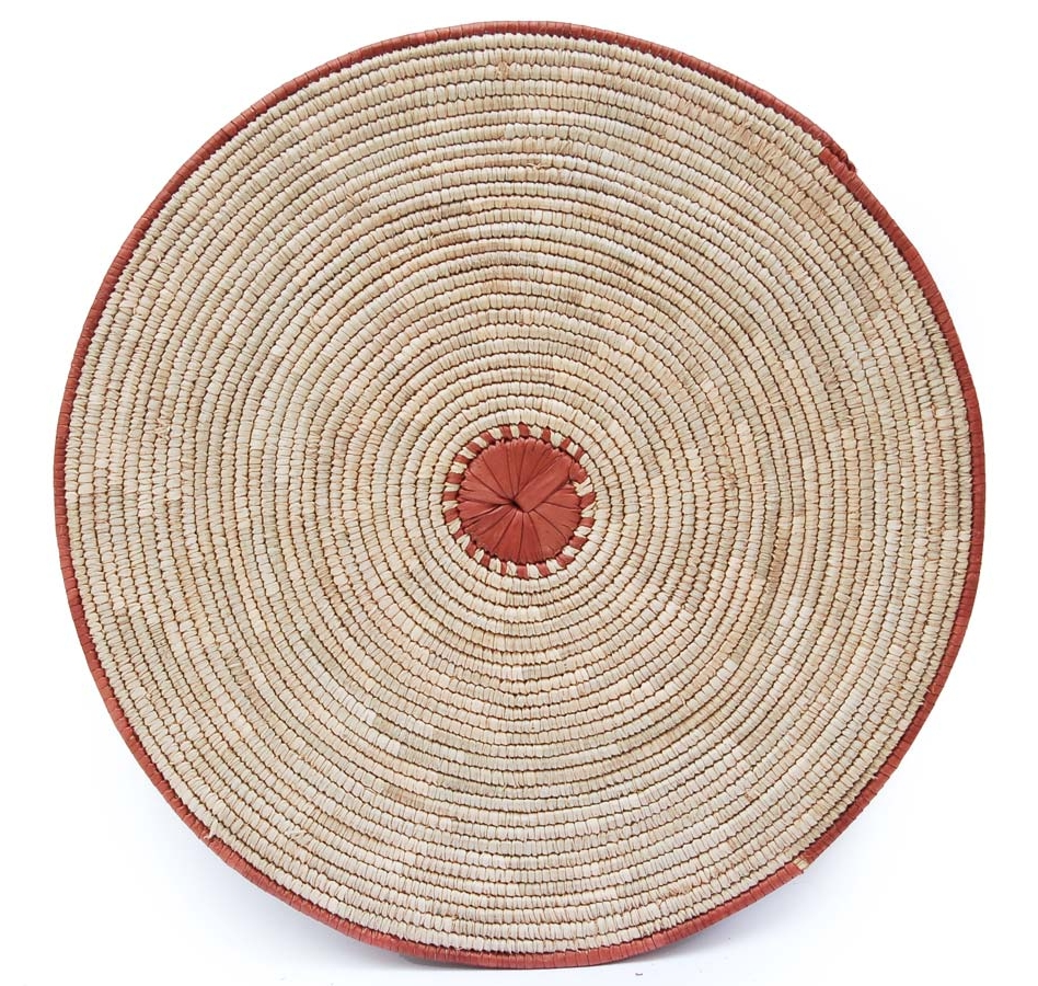 African Basket: Set of 4 African Flat Baskets (Wall Art)