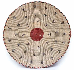 African Flat Basket – Add African Texture to Interior Decor