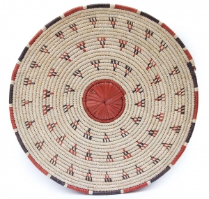 Flat Basket - Modern Global Decor with African Baskets