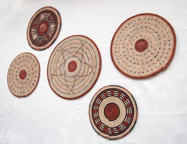 Flat Basket Wall Decor Set (5)