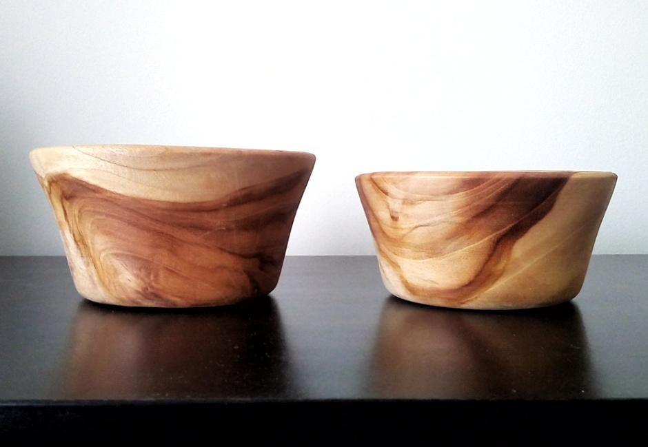 Twin Teaks – Hand-turned Teak Bowls (set of 2)