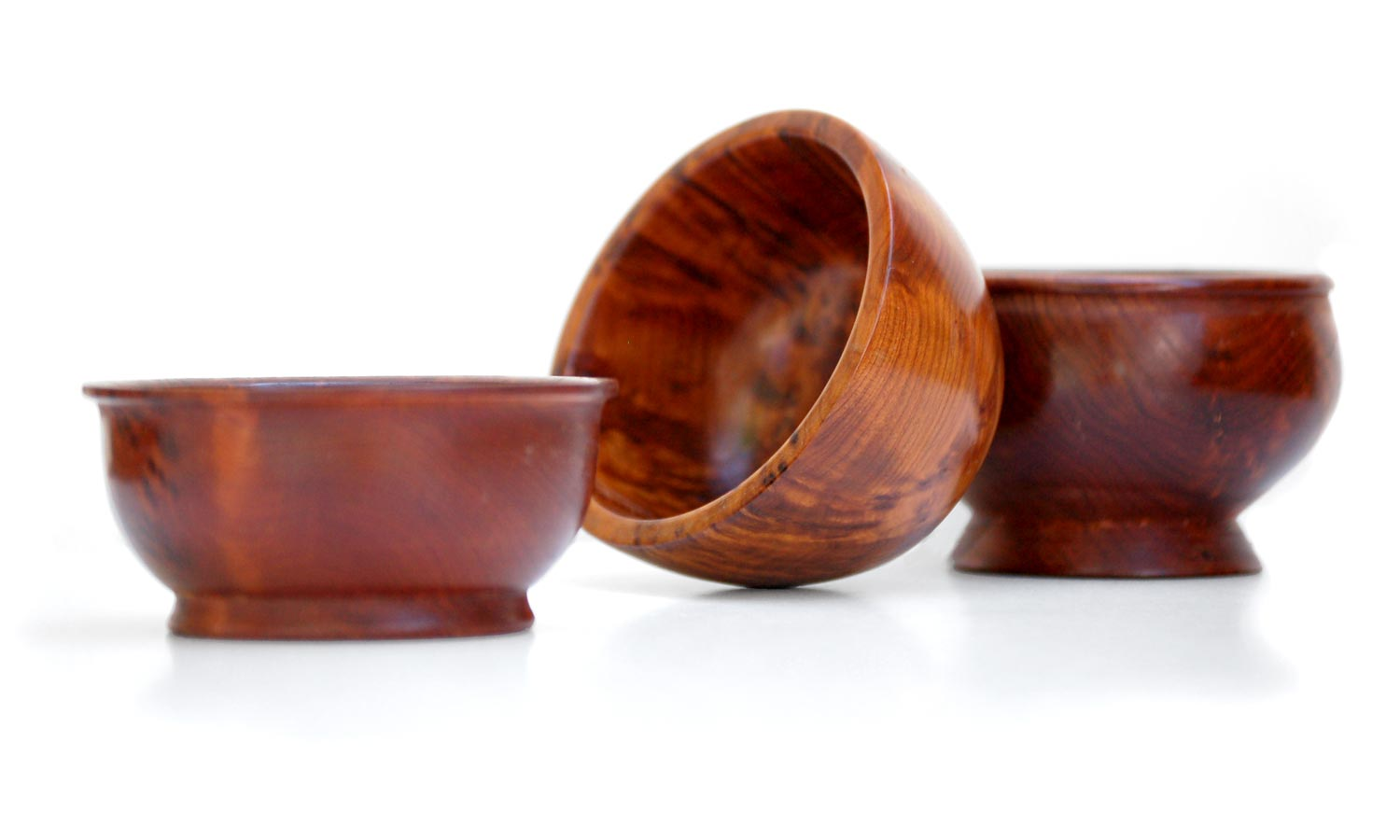 Vintage Thuya Wood Bowls (set of 3)