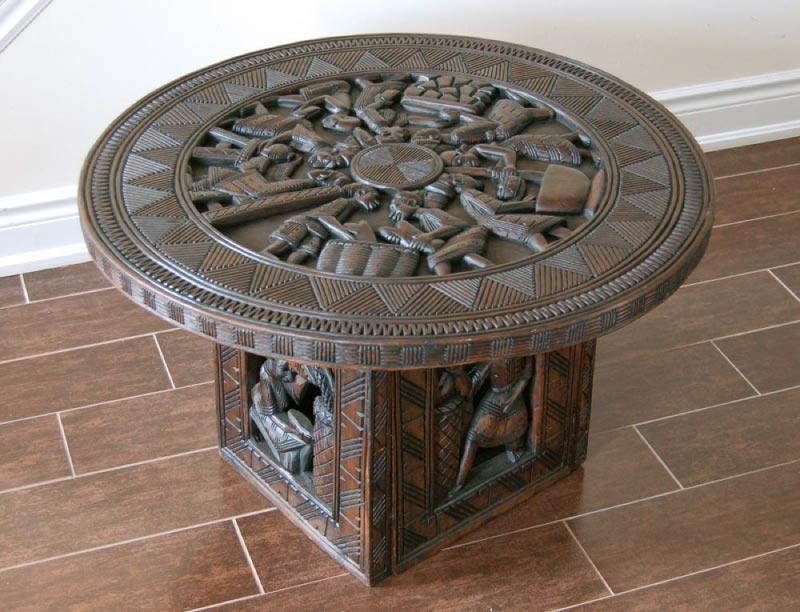 Handcrafted Yoruba Coffee Table