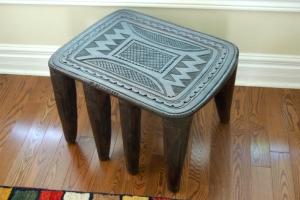 Bamileke Stool African Side Table Modern Global Decor