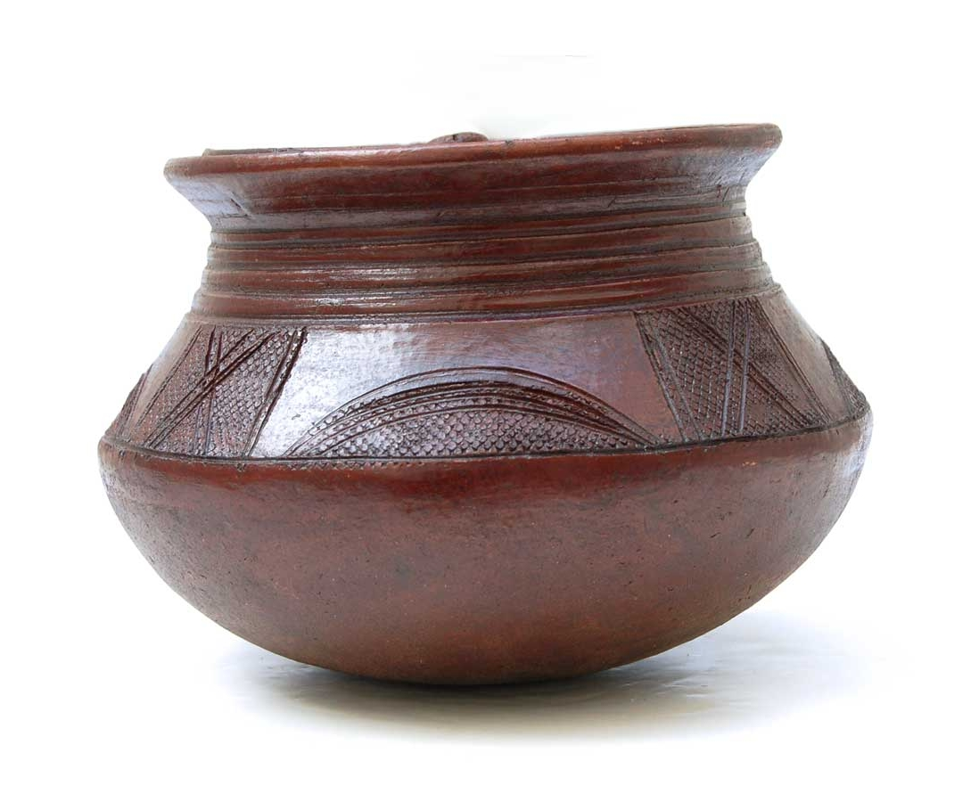 Lidded Nupe Clay Pot (Nigeria)