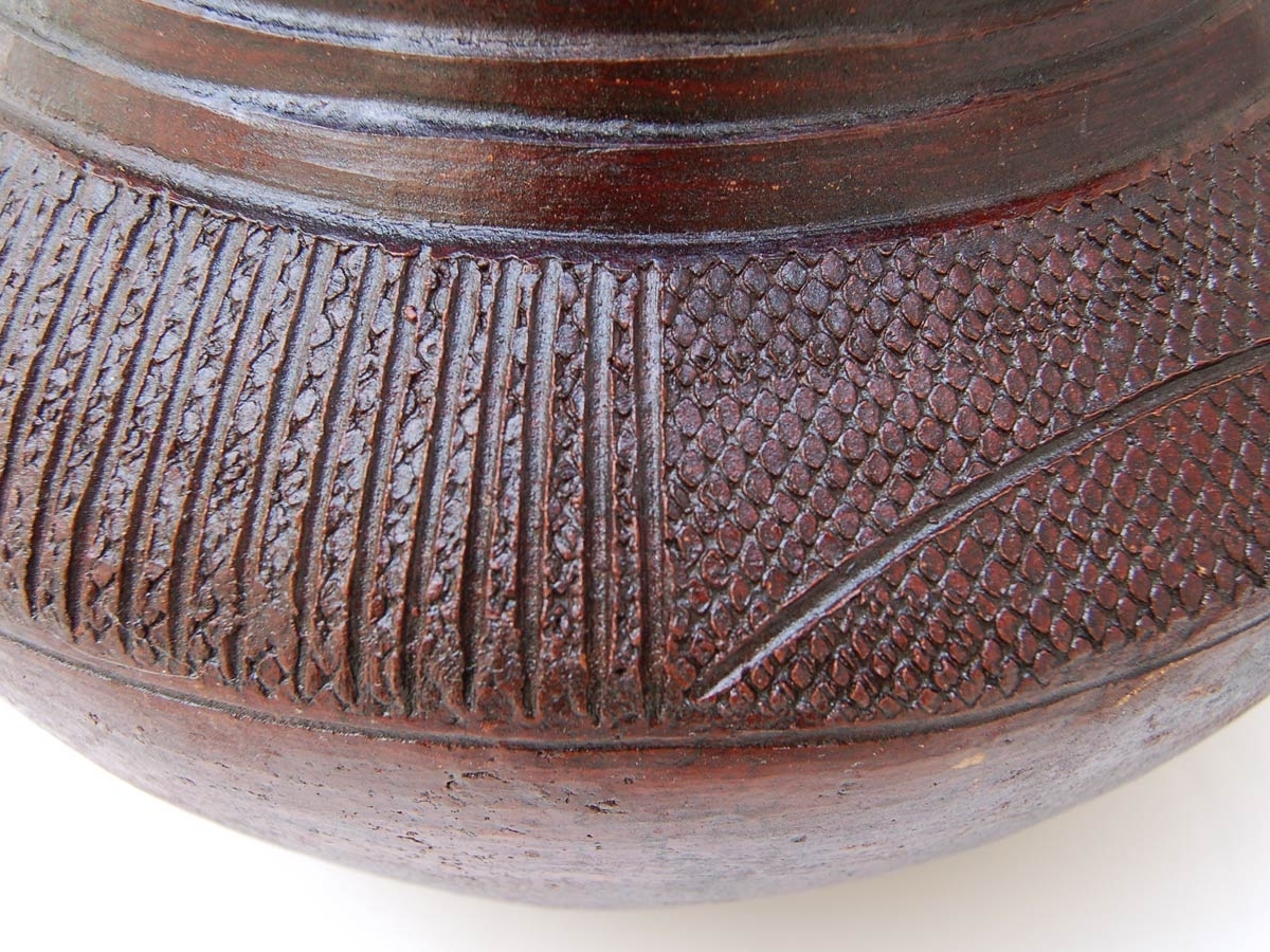 Lidded African Clay Pot