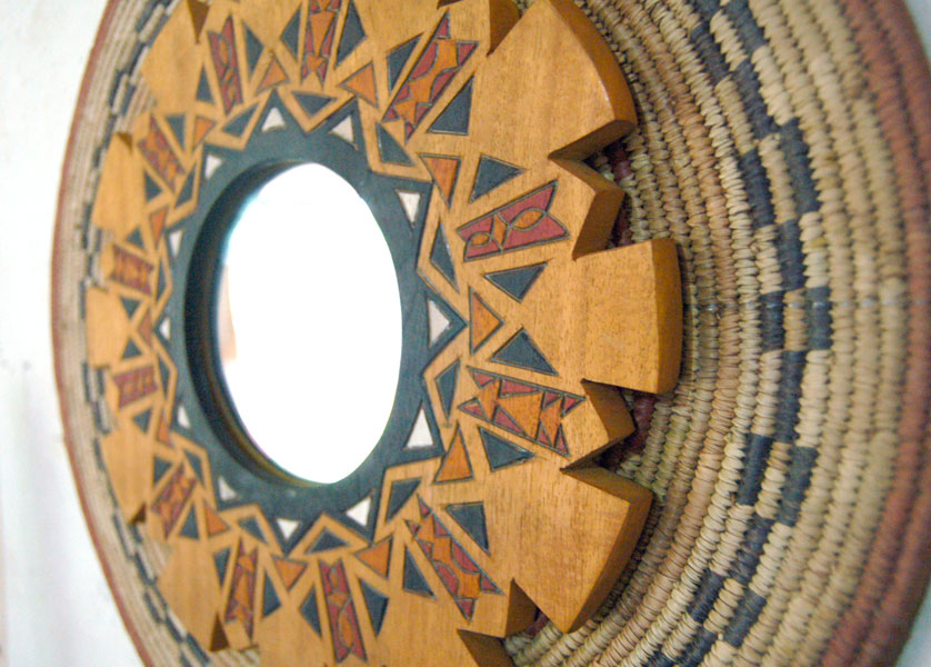Art Mirror:  Wall Art Mirror in Modern Global Wall Decor