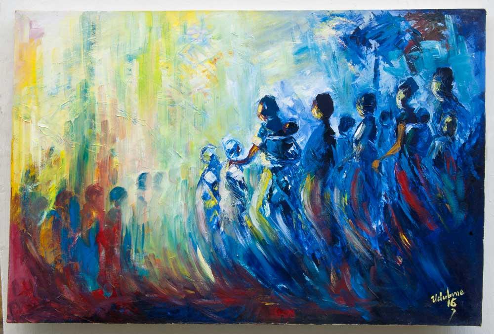 "Traditional Africa – ""Homeward Journey II"" (art print)"