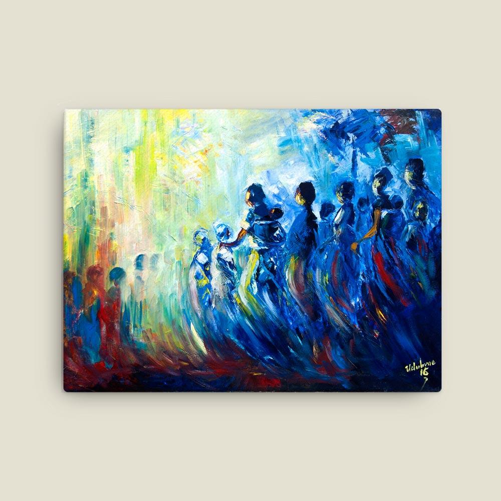 "Traditional Africa – ""Homeward Journey II"" (12×16 canvas print)"