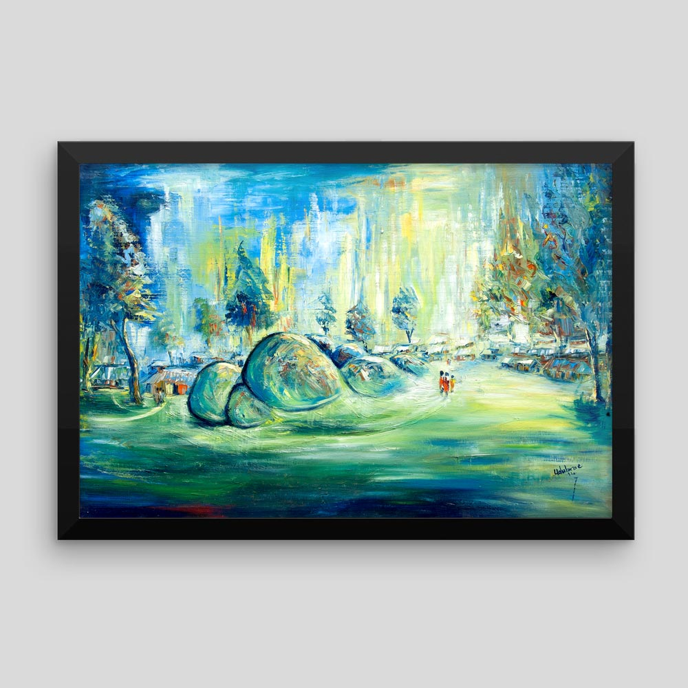 """Traditional Africa – """"Beautiful Plateau"""" (canvas/framed print)"""