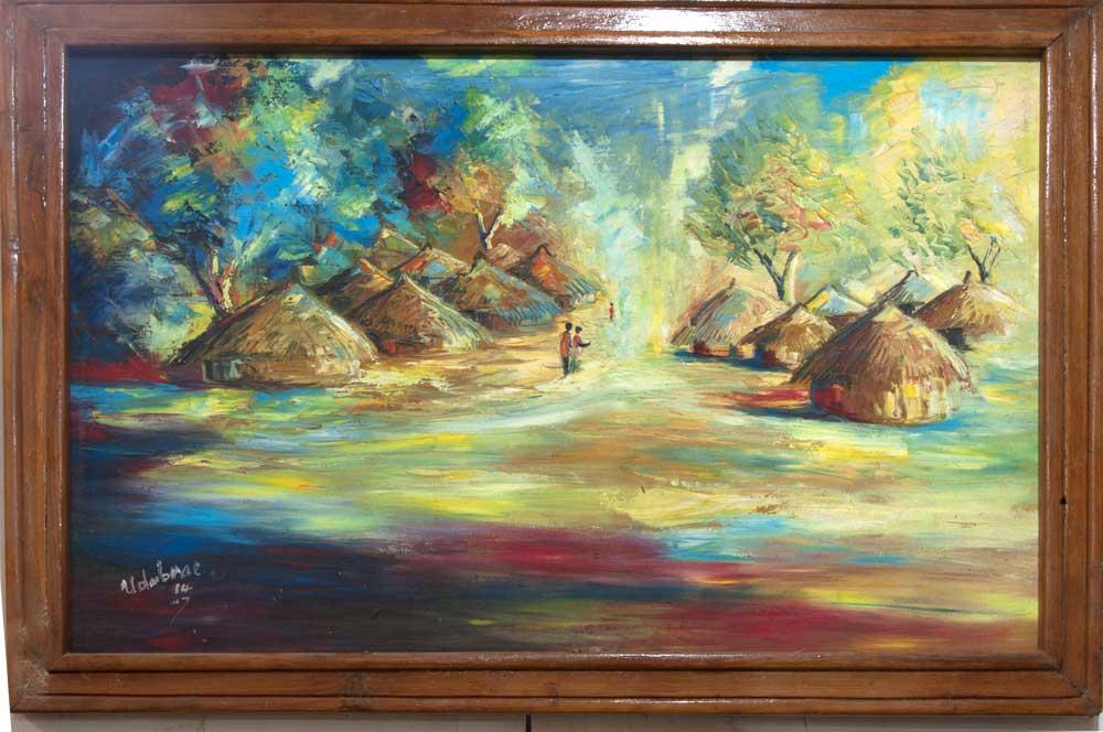 """Rural Africa – """"Village"""" (art print)"""