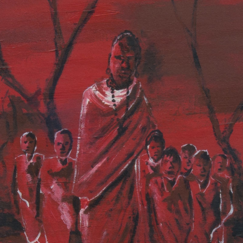 """Red"" – Traditional African Art (print)"