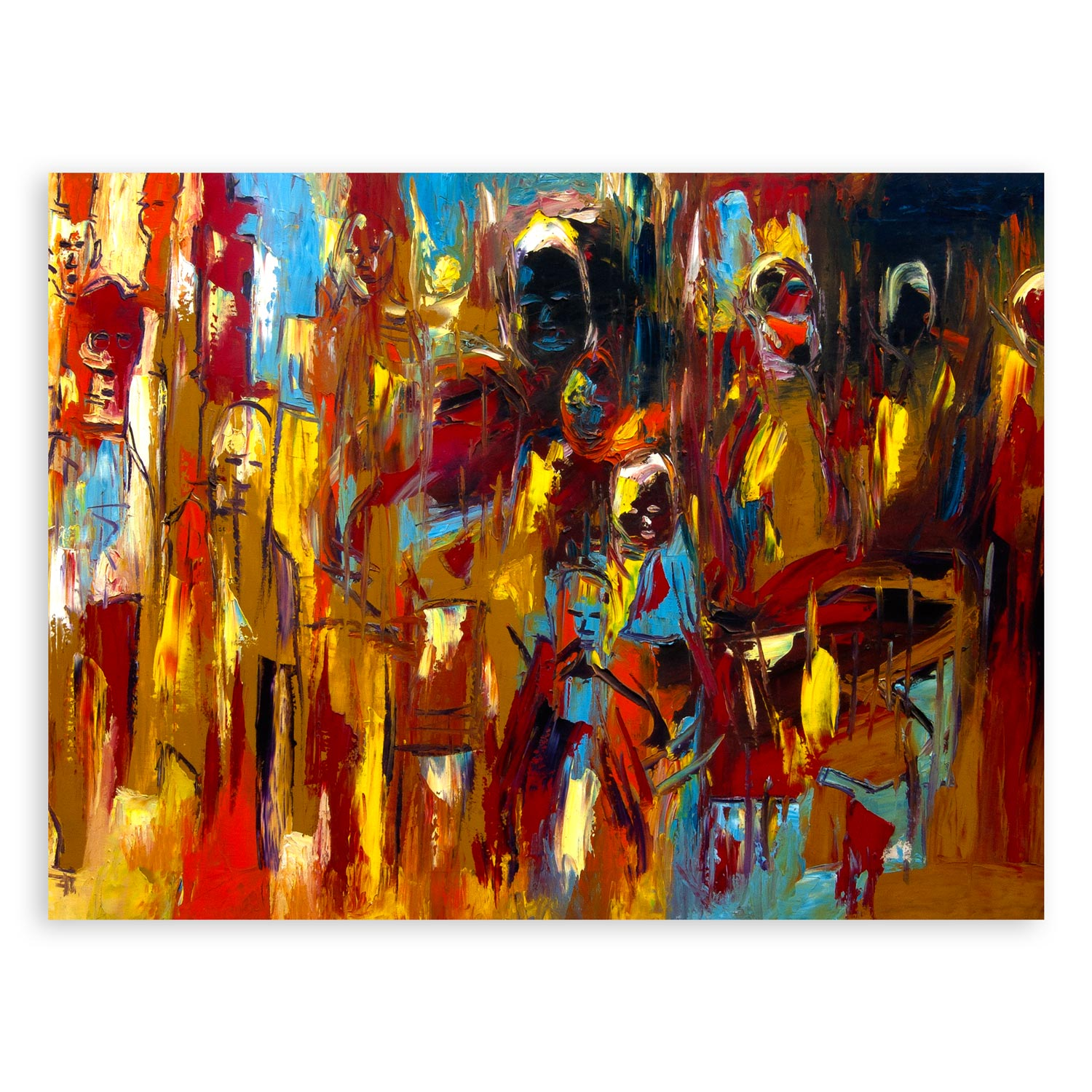 Faces – abstract art print
