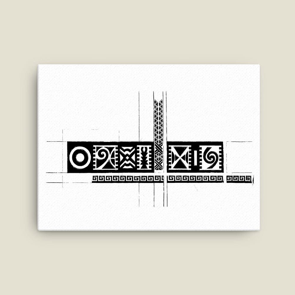 """African Heritage"" – Bold black & white art print"