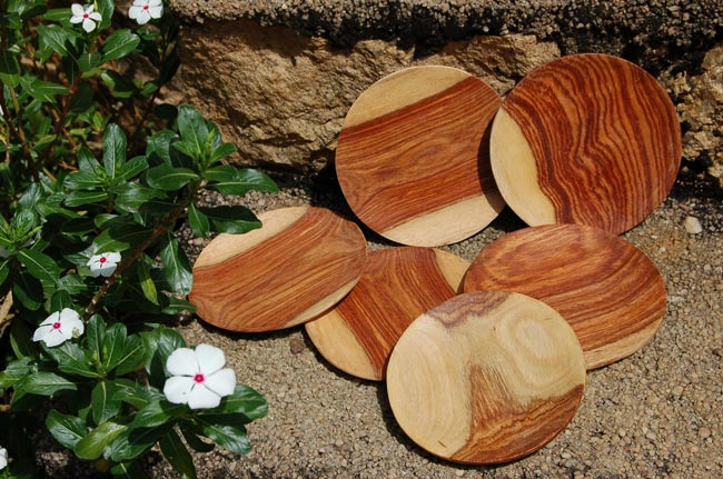 Handmade Solid Rosewood Plate (Dark Rosewood)