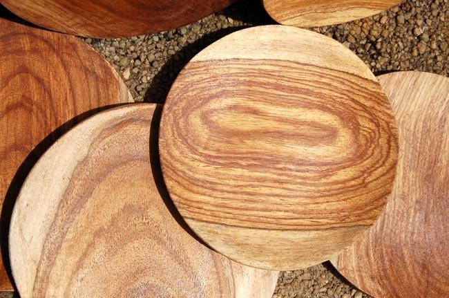 Handmade Solid Rosewood Plates (Light Rosewood)
