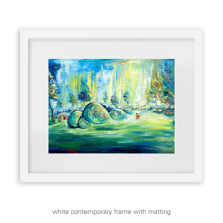 Beautiful Plateau – rolling hills landscape art print