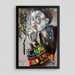 African-Beauty-Framed-Print-12x18_Tewasi-Jonah_AfriMod