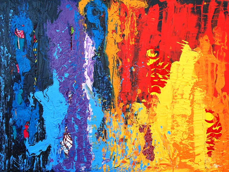 """Contemporary Abstract African Art Print """"Giant of Africa"""" (Framed / Canvas)"""