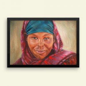 African-Art_The-Face-of-a-Woman-03-Framed-Print_Alani-Olatunji_AfriMod