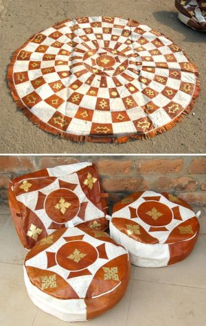 African-Leather-Carpet-Hassock-Pouf-Set-1a_Yahuza_AfriMod
