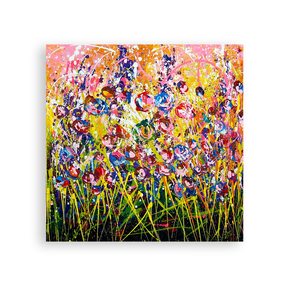 Garden of Flowers – abstract floral art print